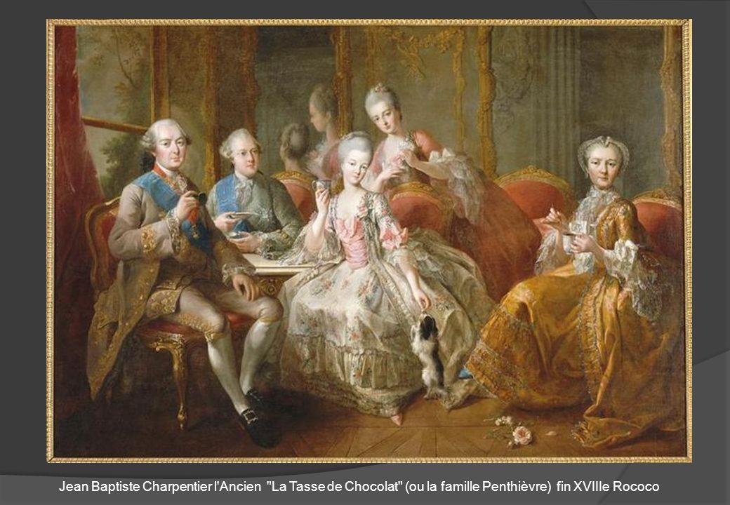 Jean Baptiste Charpentier l Ancien La Tasse de Chocolat (ou la famille Penthièvre) fin XVIIIe Rococo