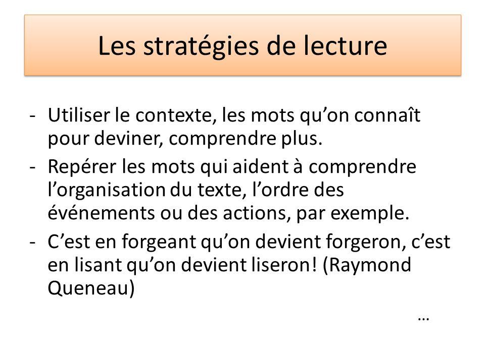 Les stratégies de lecture