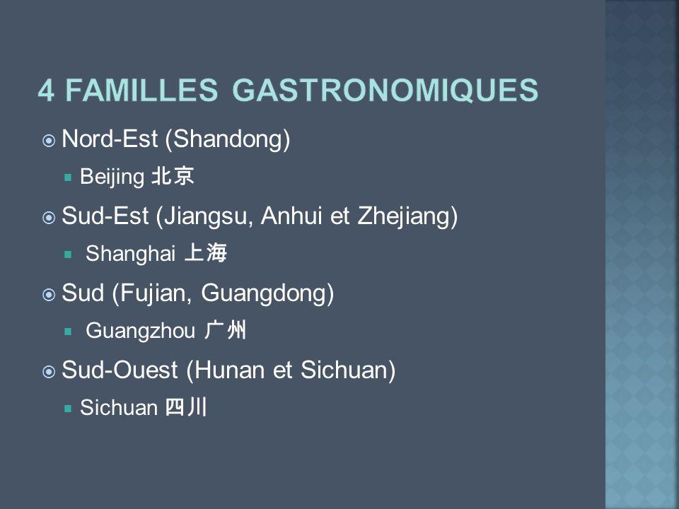 4 familles gastronomiques