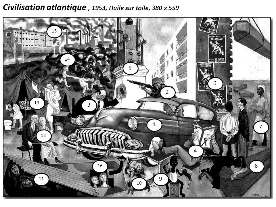 Civilisation atlantique , 1953, Huile sur toile, 380 x 559