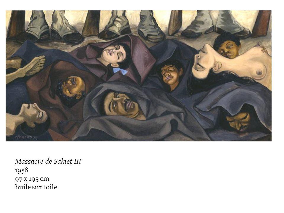 Massacre de Sakiet III 1958 97 x 195 cm huile sur toile