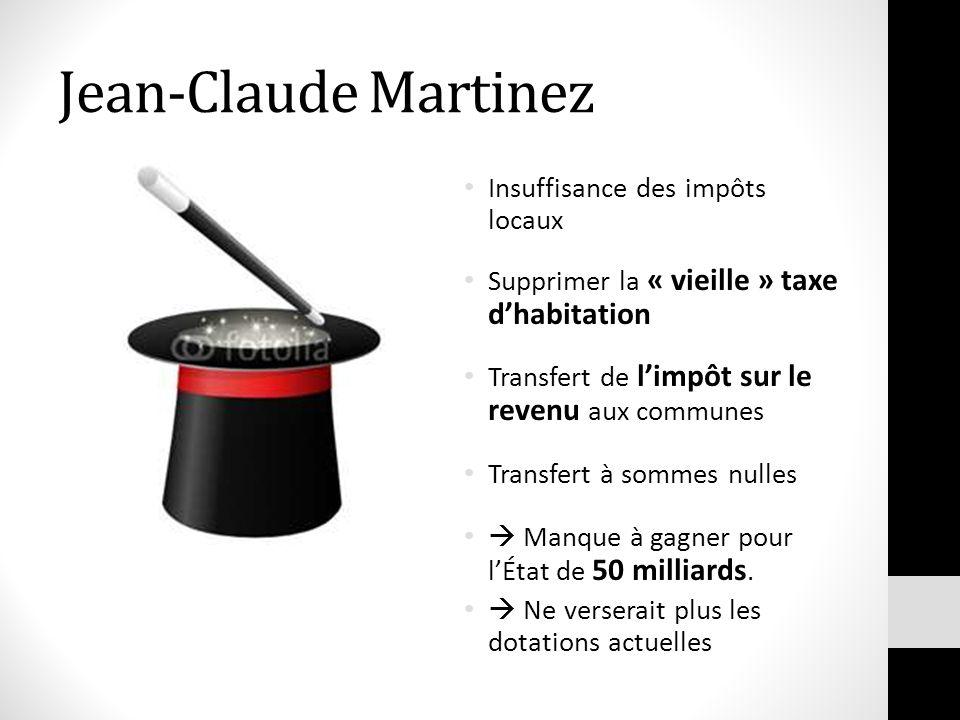 Jean-Claude Martinez Insuffisance des impôts locaux