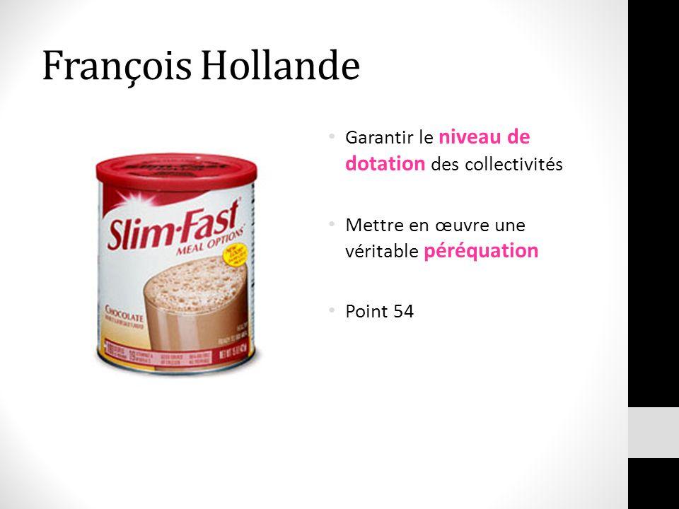 François Hollande Garantir le niveau de dotation des collectivités