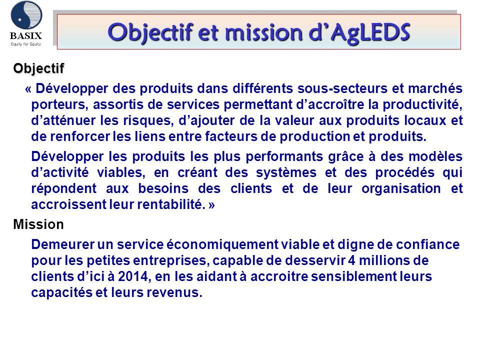 Objectif et mission d'AgLEDS