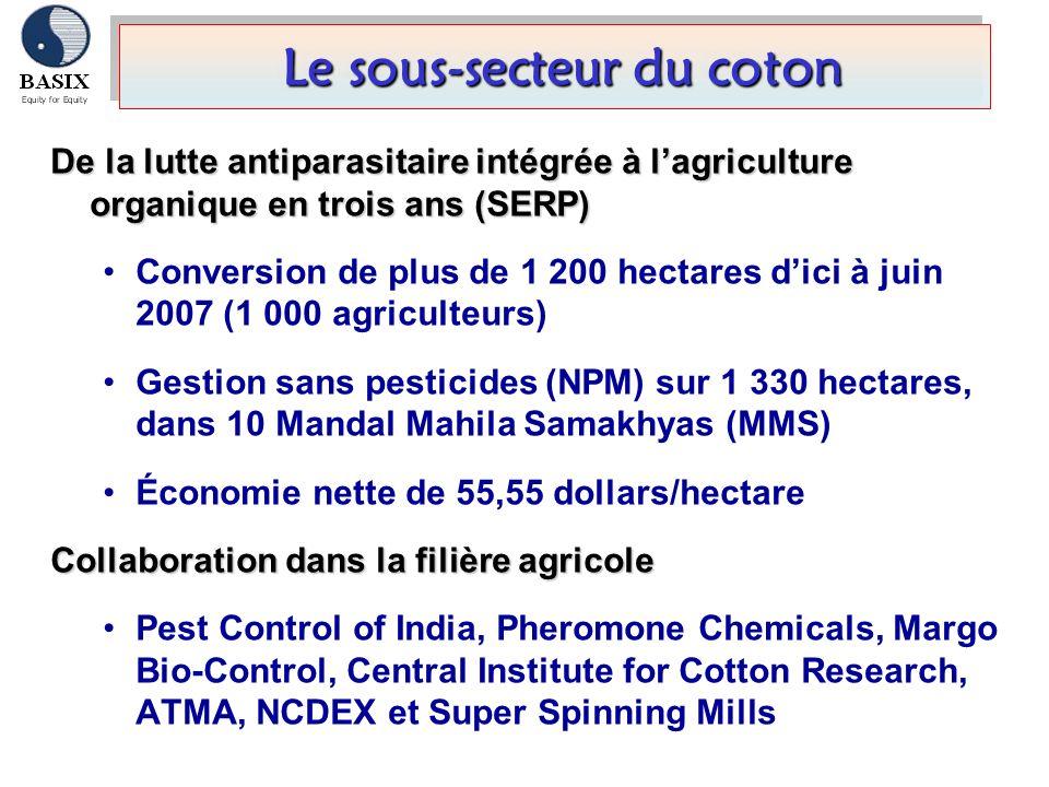 Le sous-secteur du coton