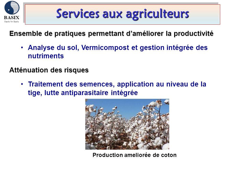 Services aux agriculteurs