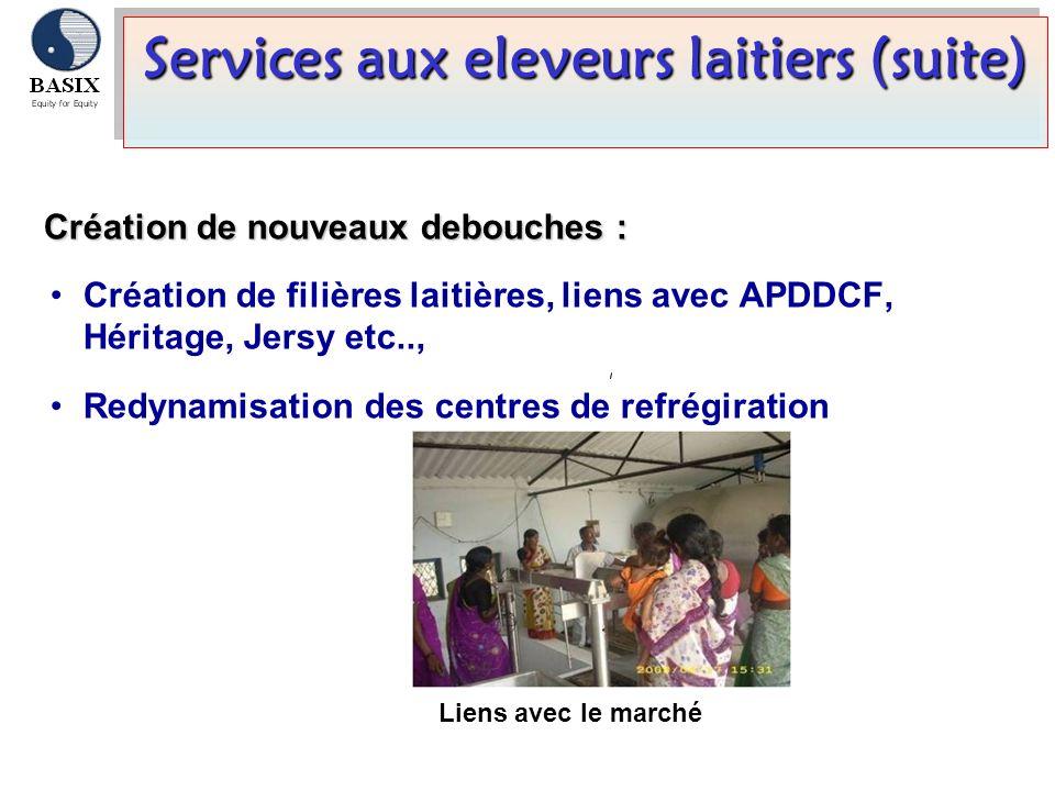 Services aux eleveurs laitiers (suite)