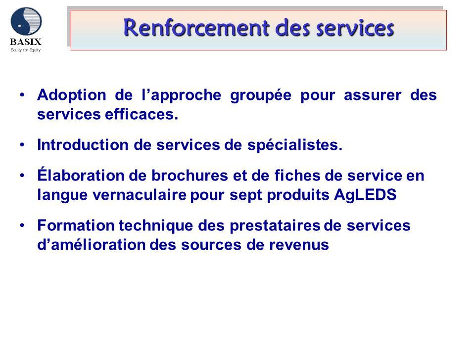 Renforcement des services