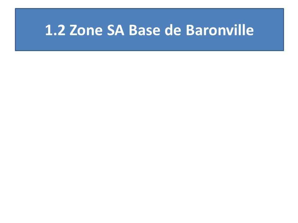 1.2 Zone SA Base de Baronville