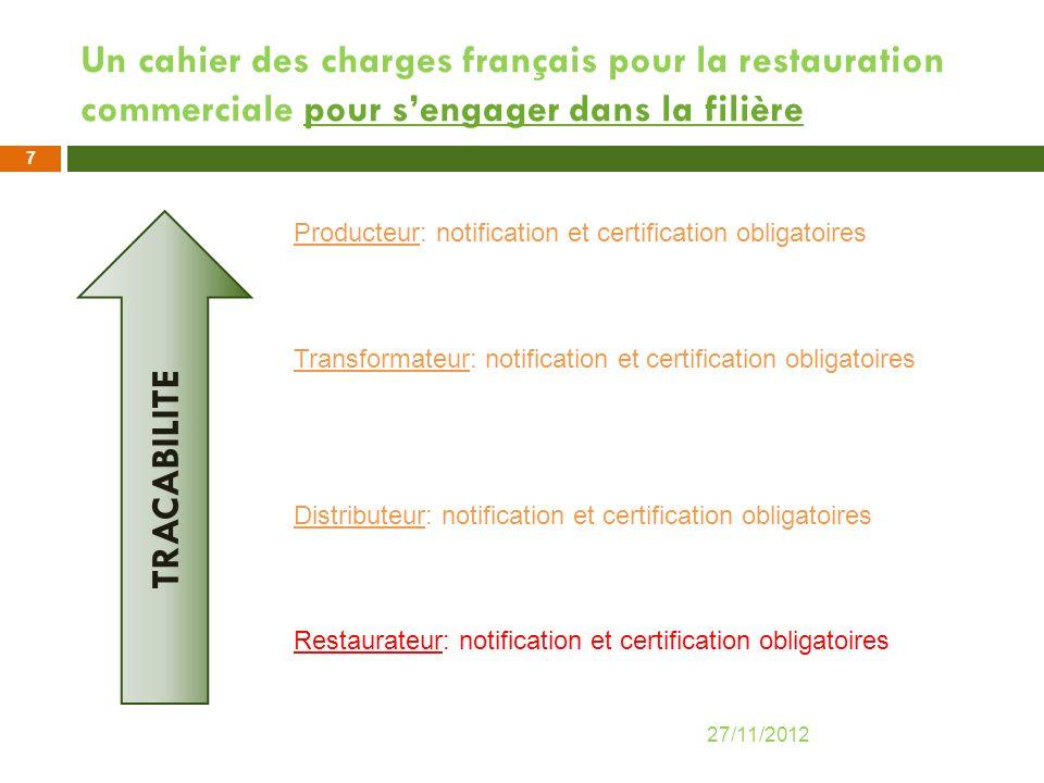 Un cahier des charges français pour la restauration commerciale pour s'engager dans la filière