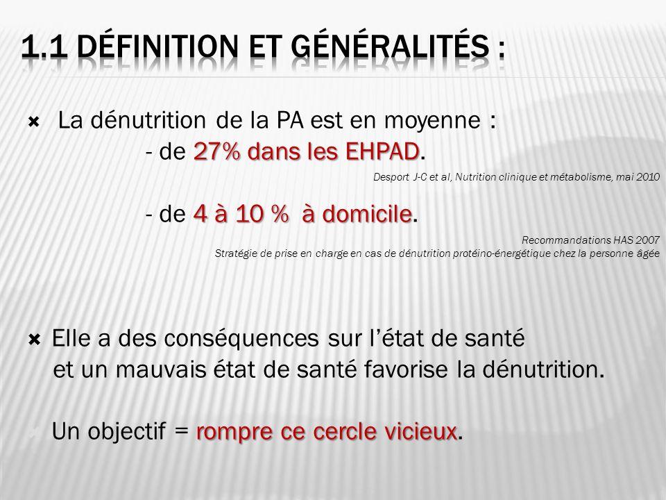 1.1 Définition et généralités :