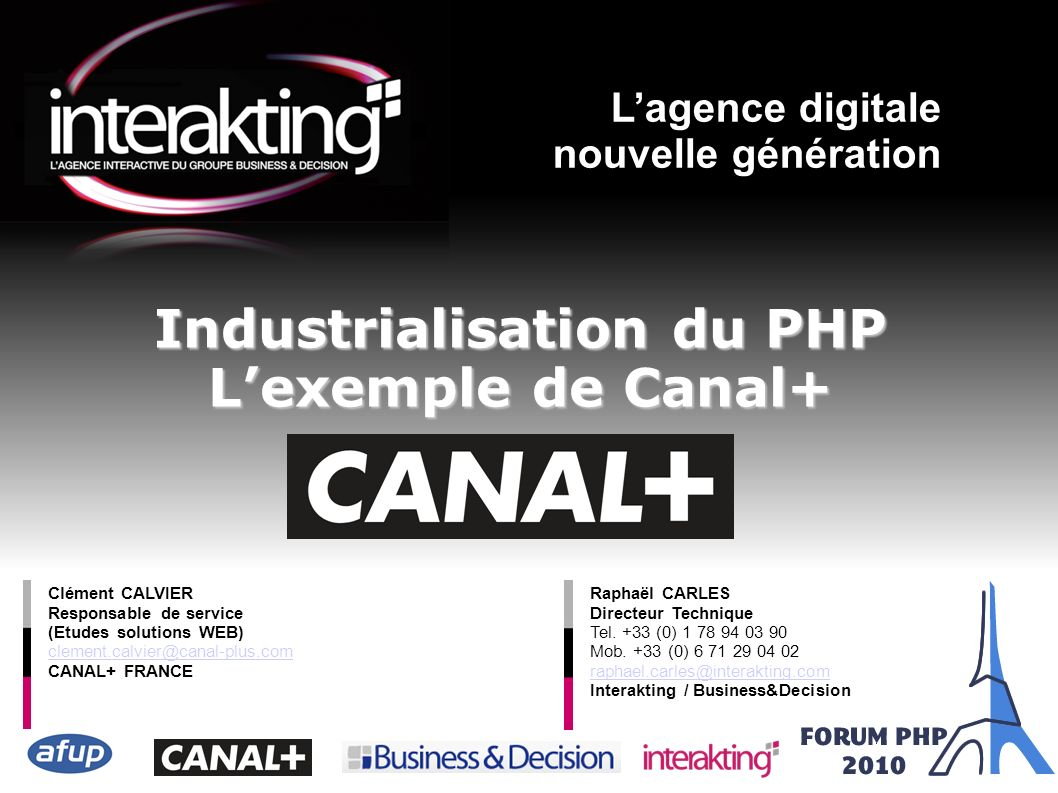 Industrialisation du PHP