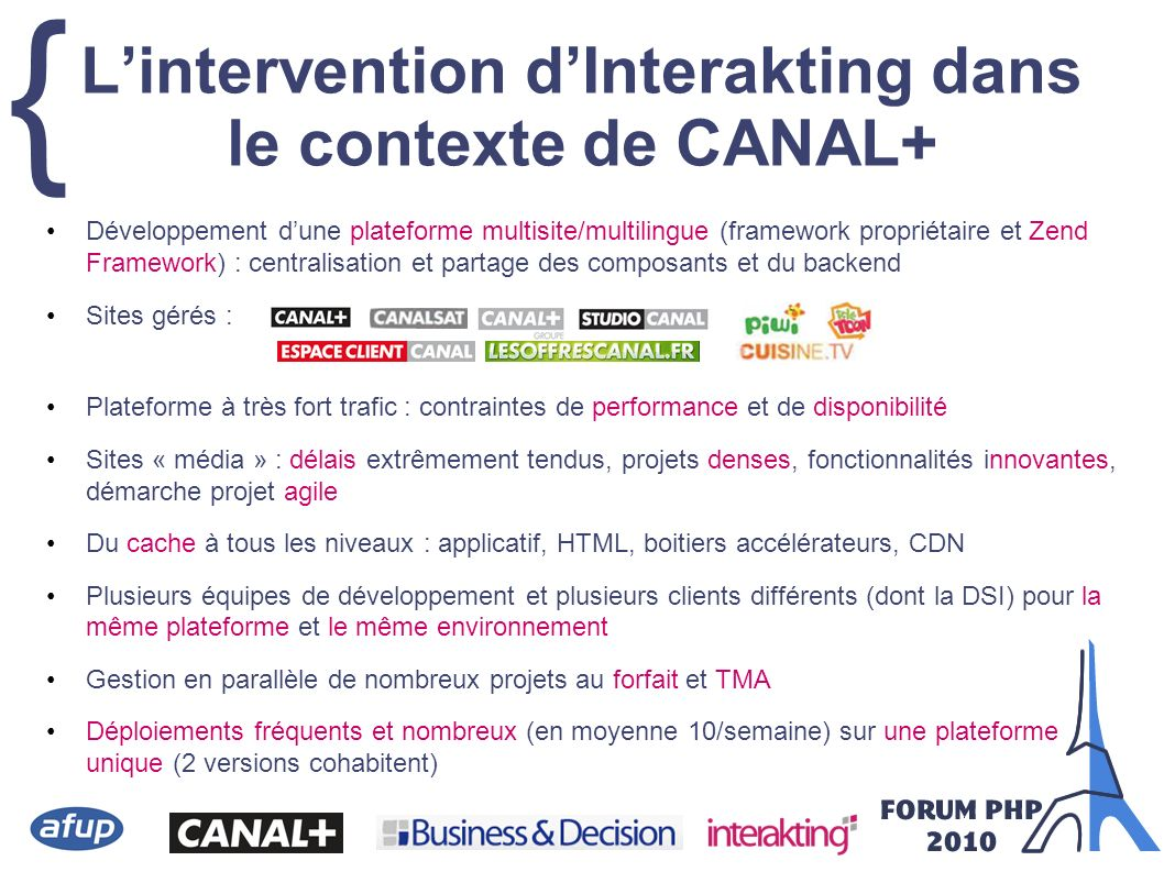 L'intervention d'Interakting dans le contexte de CANAL+