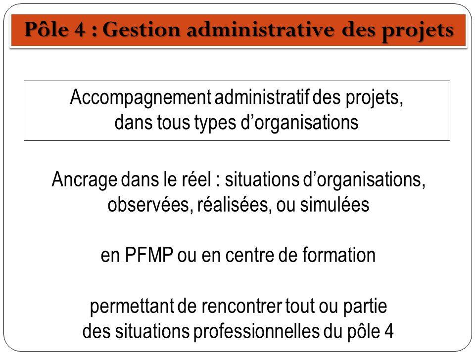 Pôle 4 : Gestion administrative des projets