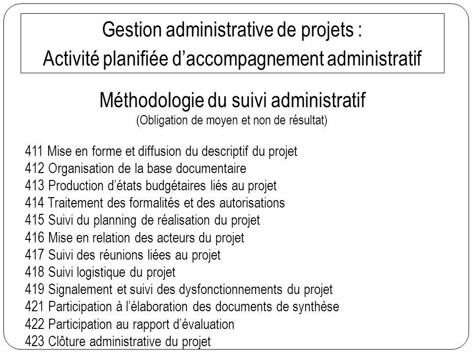 Gestion administrative de projets :