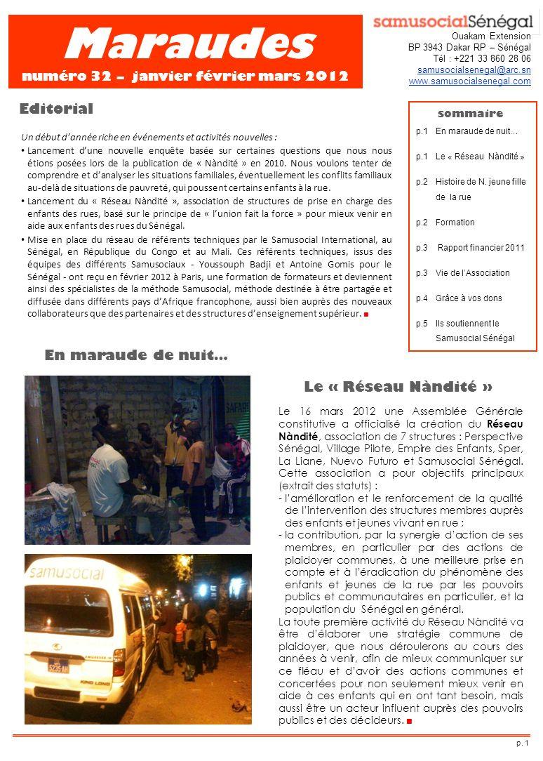 Maraudes numéro 32 – janvier février mars 2012