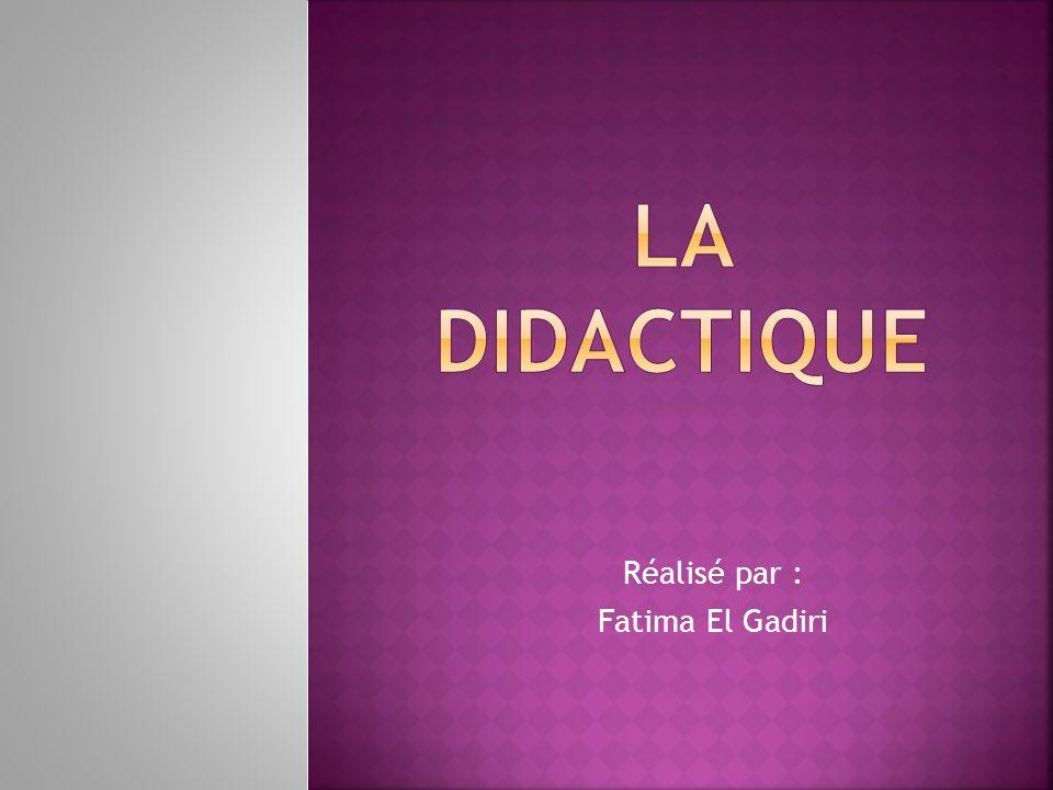 Réalisé par : Fatima El Gadiri