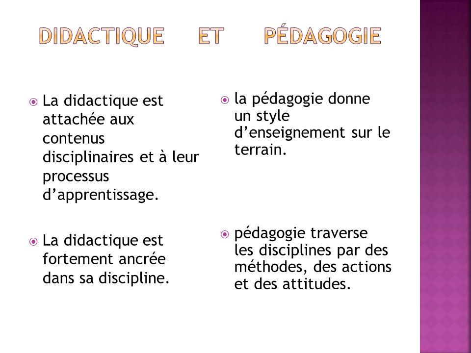 Didactique et pédagogie