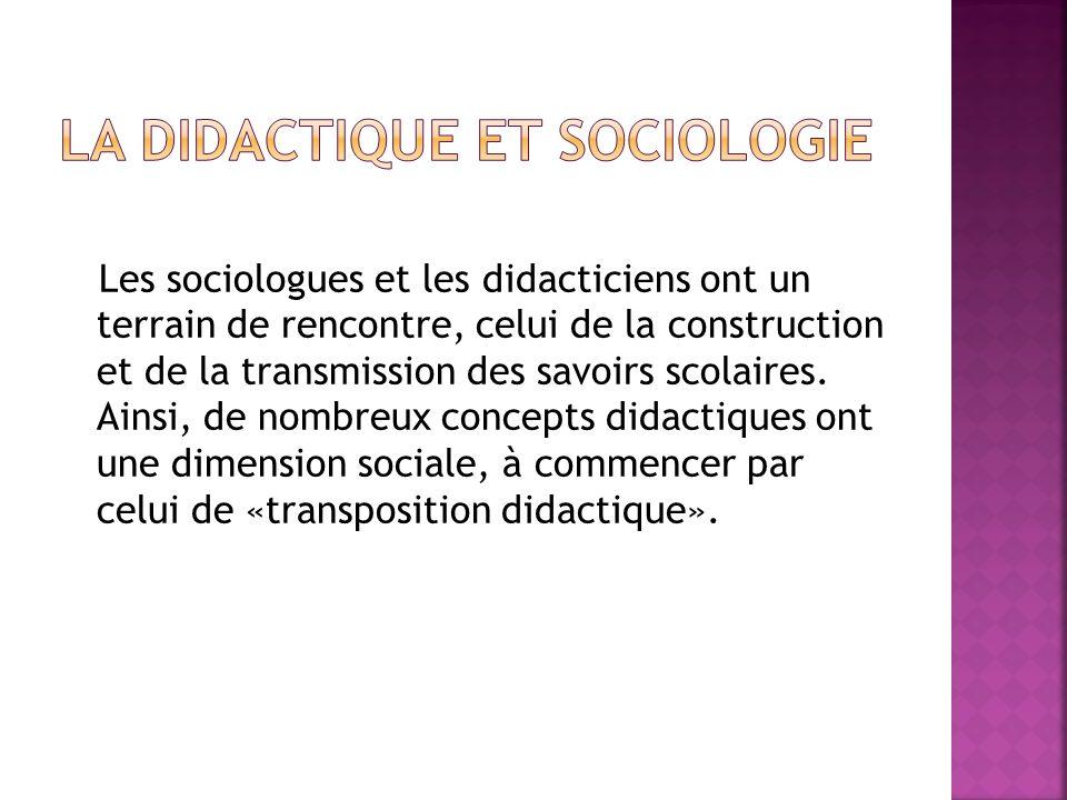 La Didactique et sociologie