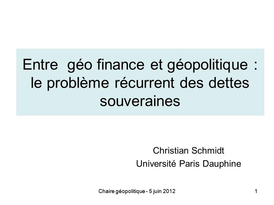 Christian Schmidt Université Paris Dauphine