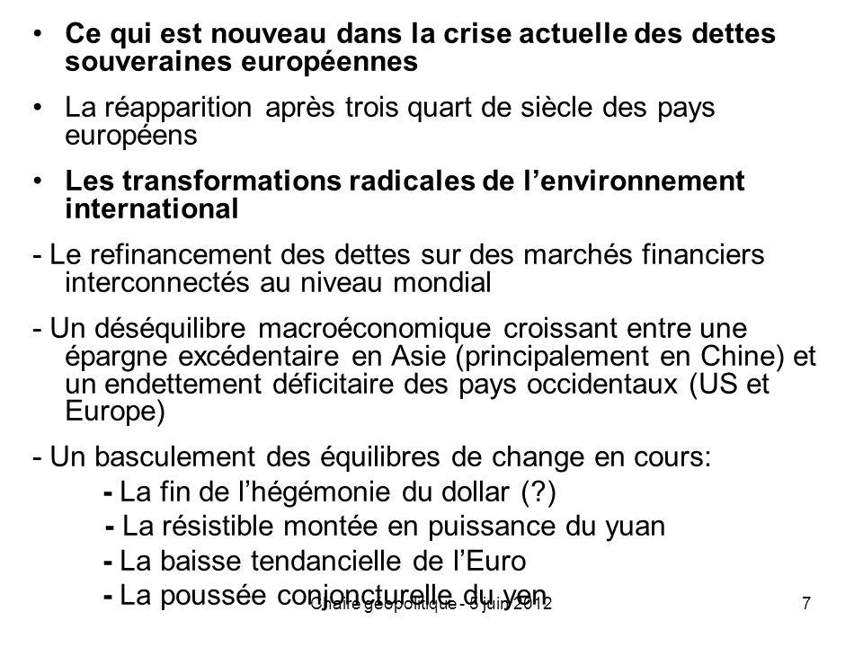 Chaire géopolitique - 5 juin 2012