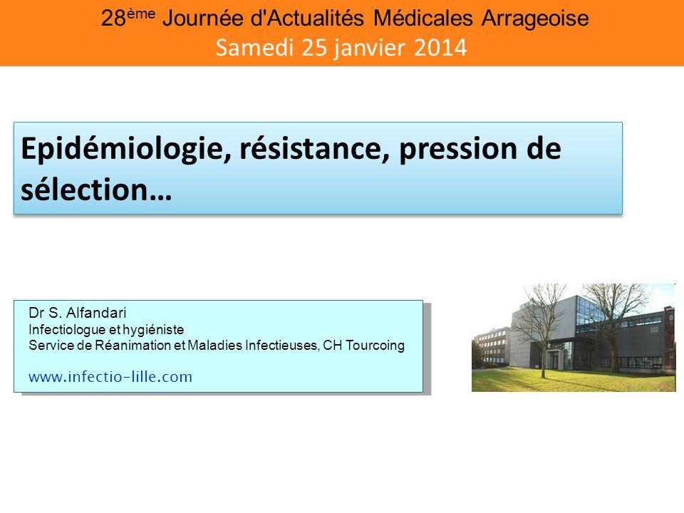 Epidémiologie, résistance, pression de sélection…