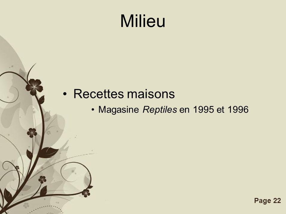 Milieu Recettes maisons Magasine Reptiles en 1995 et 1996 RECIPE #A