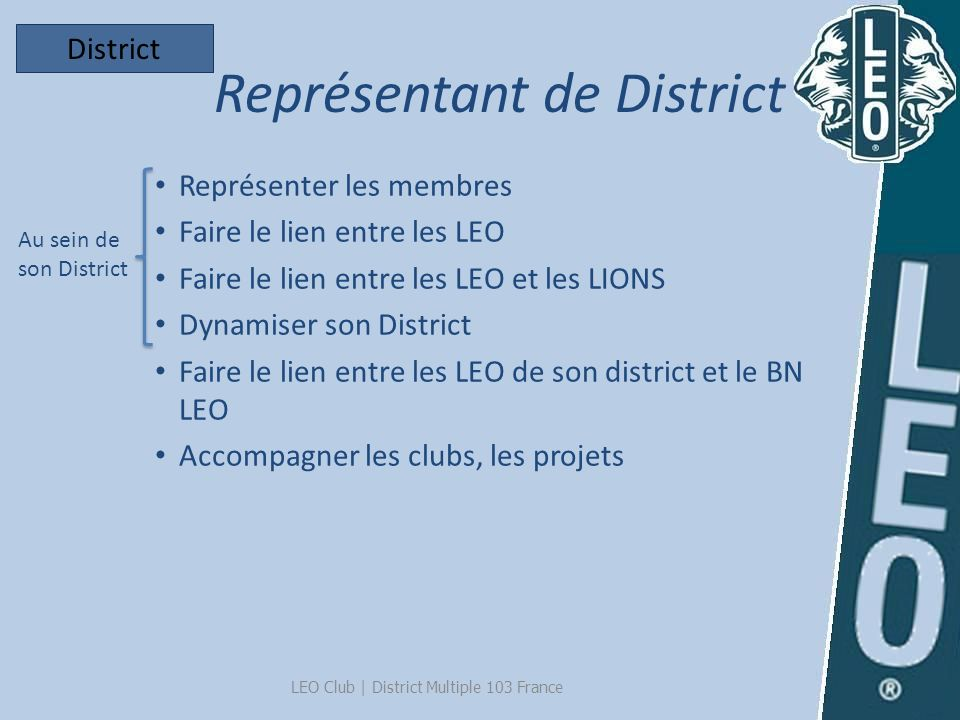 Représentant de District