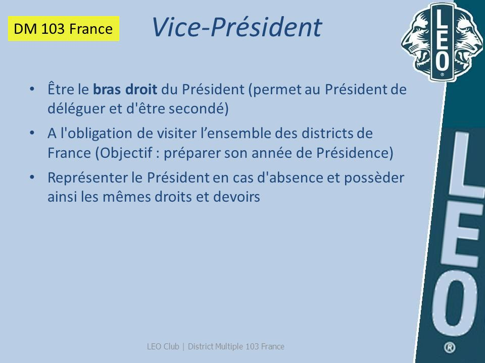 LEO Club | District Multiple 103 France