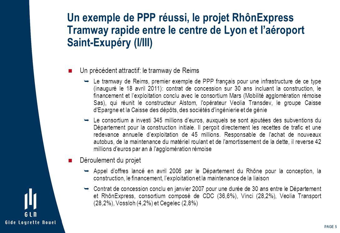 Un exemple de PPP réussi, le projet RhônExpress Tramway rapide entre le centre de Lyon et l'aéroport Saint-Exupéry (I/III)