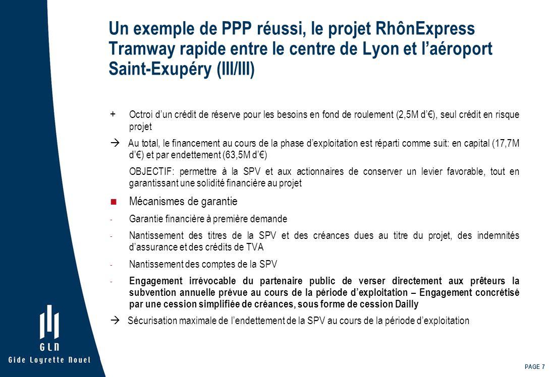 Un exemple de PPP réussi, le projet RhônExpress Tramway rapide entre le centre de Lyon et l'aéroport Saint-Exupéry (III/III)