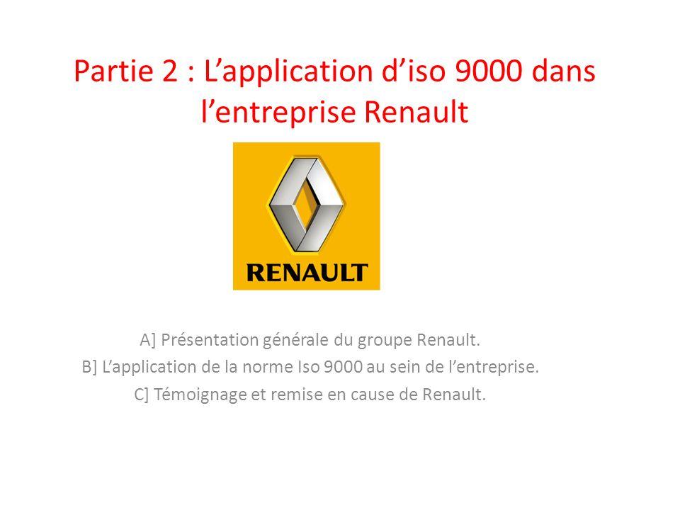Partie 2 : L'application d'iso 9000 dans l'entreprise Renault