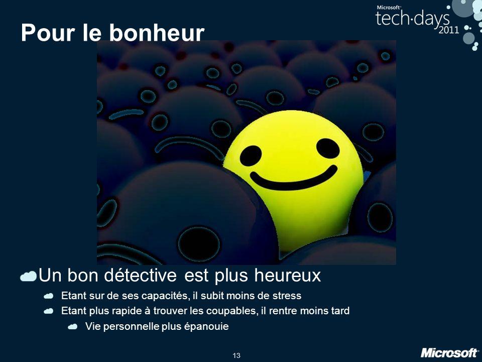 Pour le bonheur Un bon détective est plus heureux