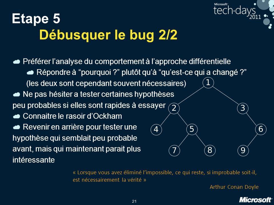 Etape 5 Débusquer le bug 2/2