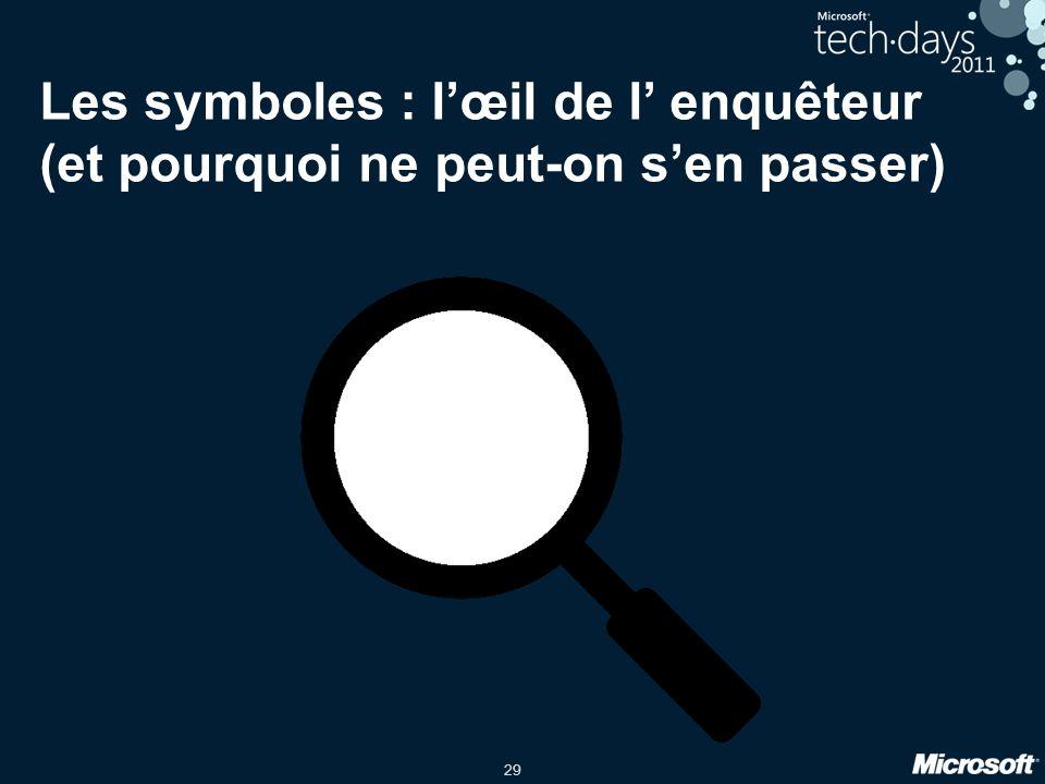Les symboles : l'œil de l' enquêteur (et pourquoi ne peut-on s'en passer)