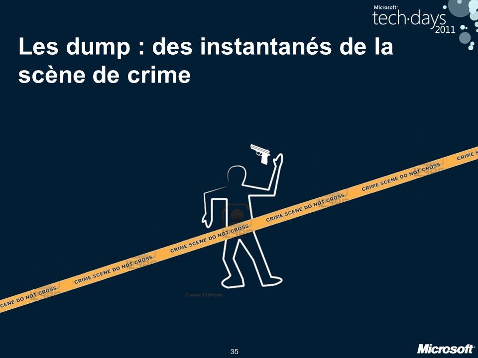 Les dump : des instantanés de la scène de crime