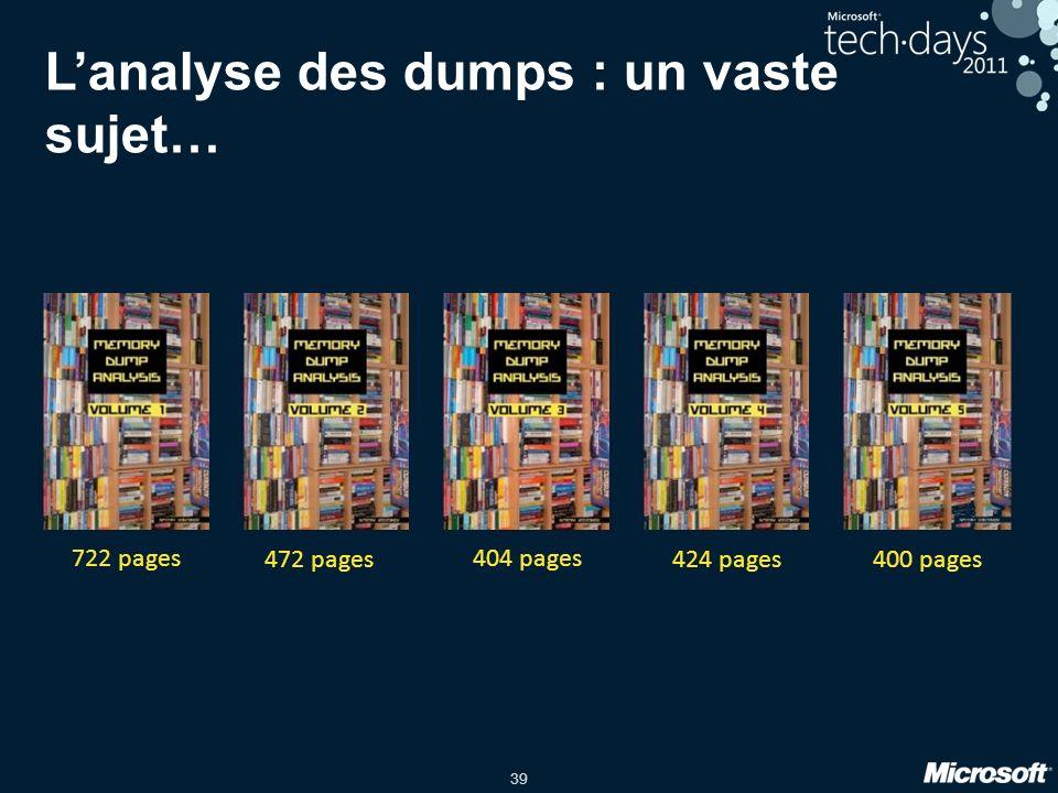 L'analyse des dumps : un vaste sujet…