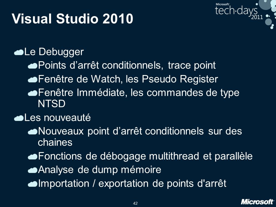 Visual Studio 2010 Le Debugger