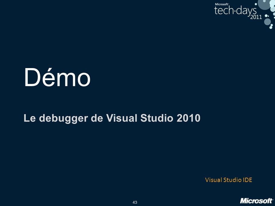 Le debugger de Visual Studio 2010