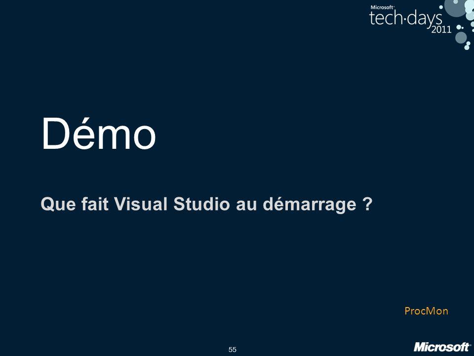 Que fait Visual Studio au démarrage