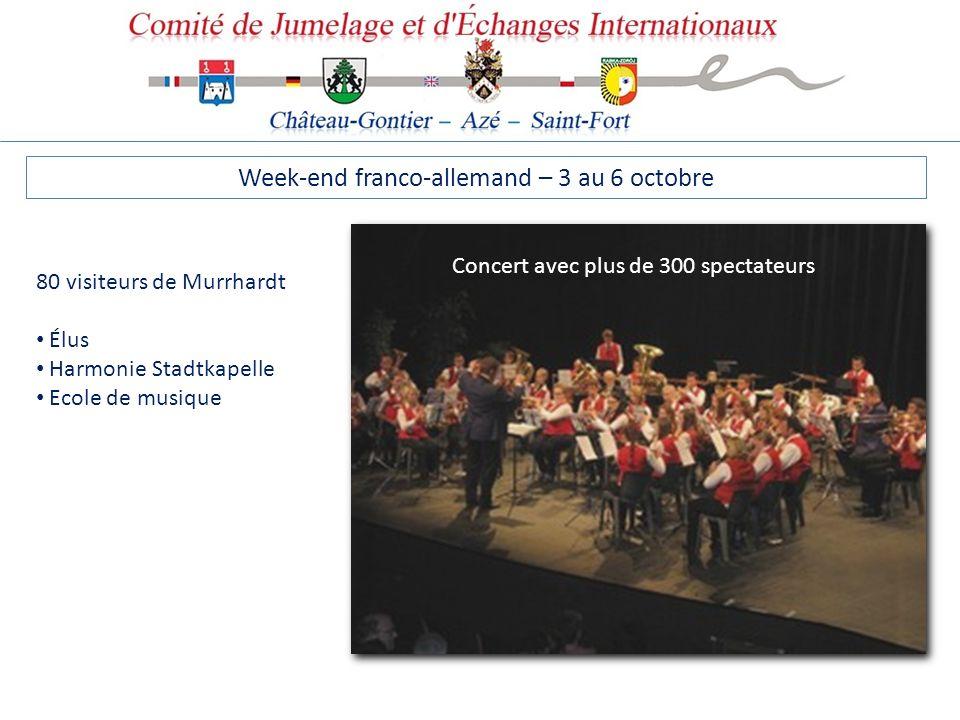 Week-end franco-allemand – 3 au 6 octobre