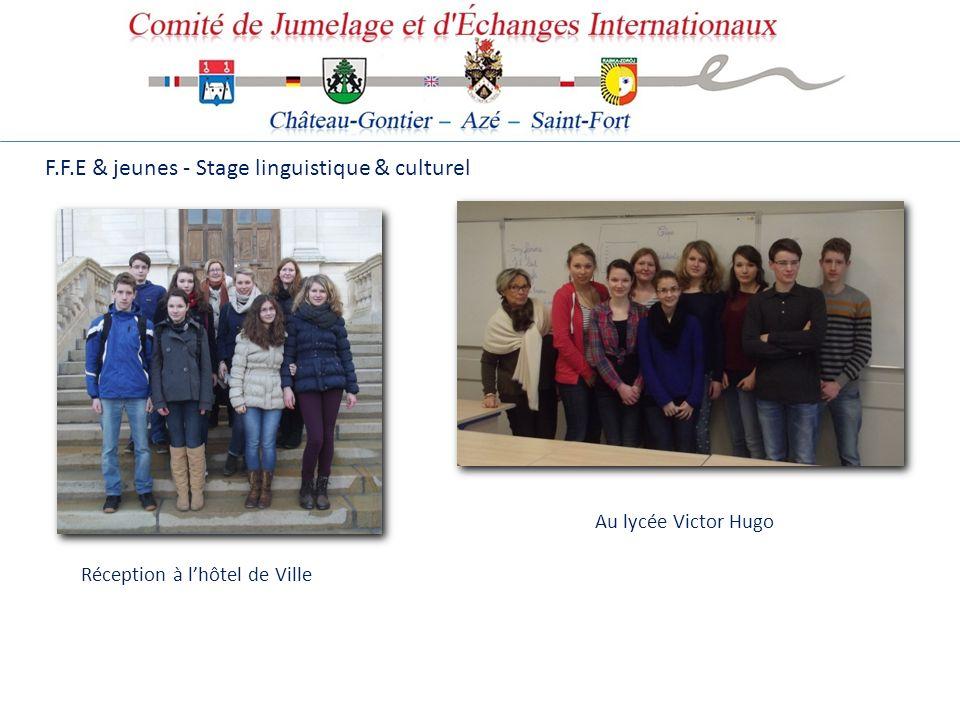 F.F.E & jeunes - Stage linguistique & culturel