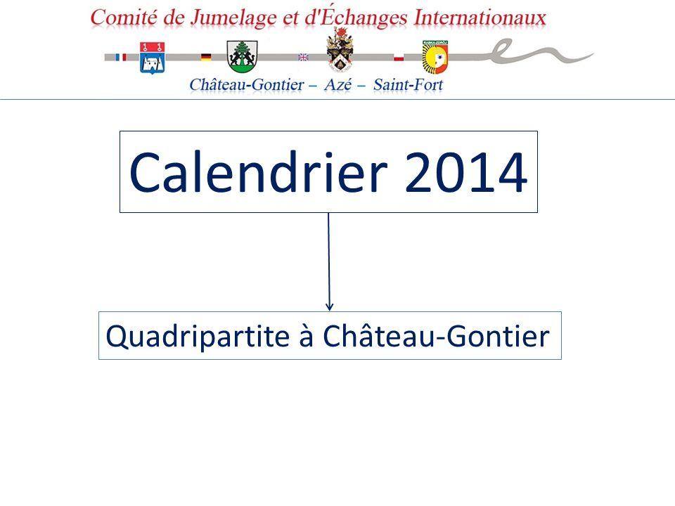 Calendrier 2014 Quadripartite à Château-Gontier