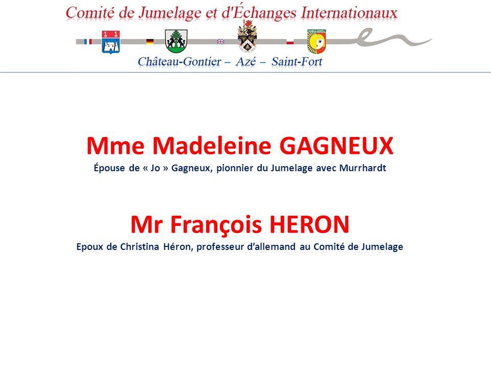 Mme Madeleine GAGNEUX Mr François HERON