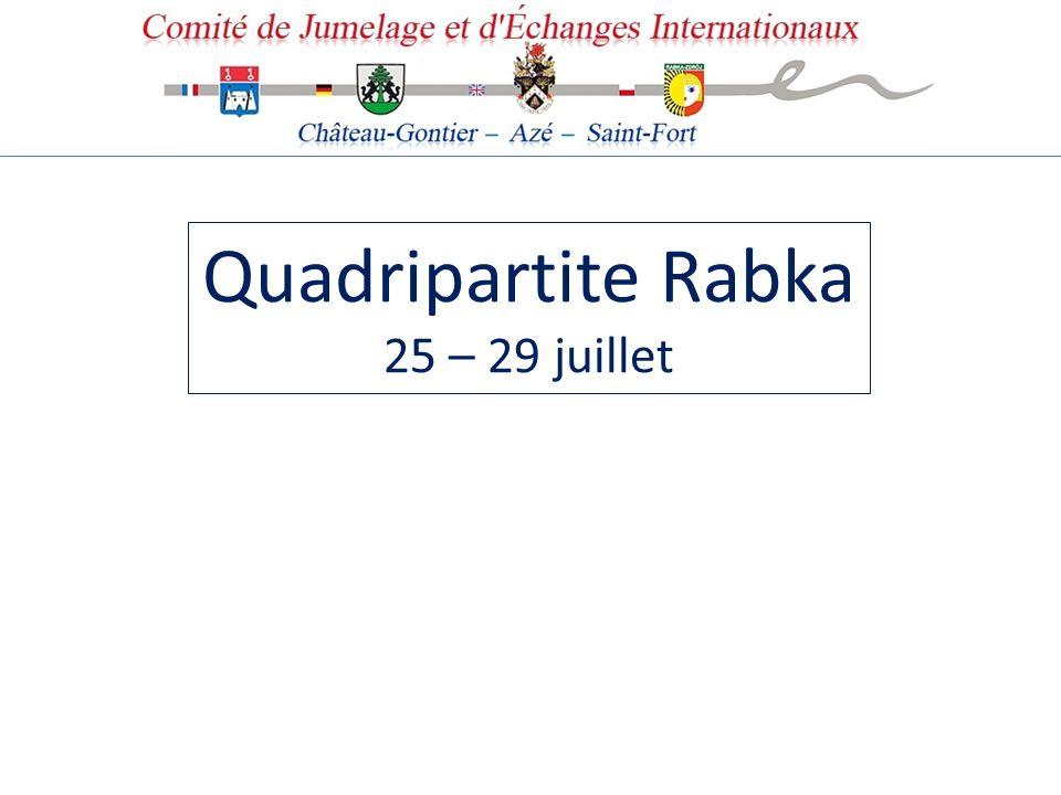 Quadripartite Rabka 25 – 29 juillet
