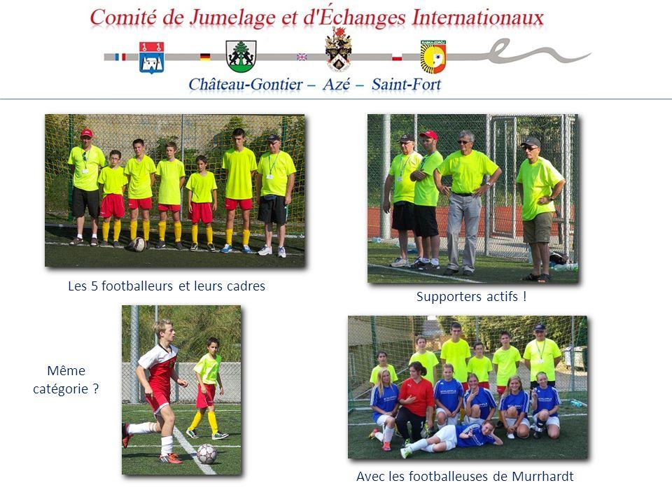 Les 5 footballeurs et leurs cadres
