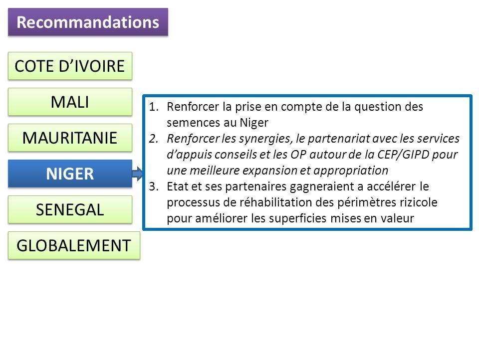 Recommandations NIGER