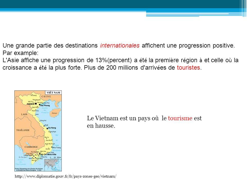 Le Vietnam est un pays où le tourisme est en hausse.