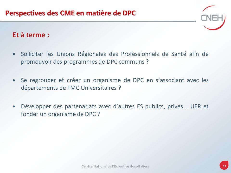 Perspectives des CME en matière de DPC