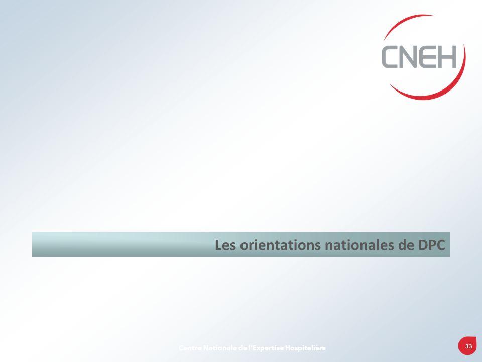 Les orientations nationales de DPC